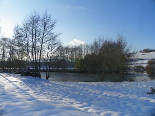Neige sous le soleil
