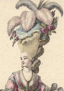 Deux coiffures du XVIIIe siècle.