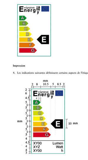 l'étiquette énergétique est soigneusement calibrée.