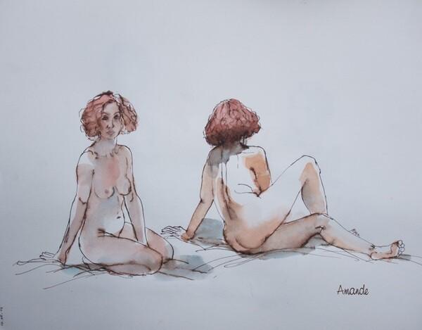 Mercredi : Deux poses de Clotilde