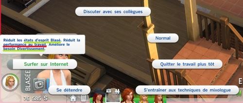 Les métiers dans les Sims 4