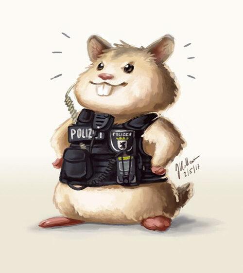 (-*♥*-) La police de Berlin adopte un adorable hamster égaré et en fait un agent