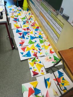 Arts visuels : origami à la manière de Mademoiselle Maurice