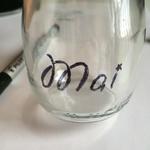 Ecrire à main levée sur un bocal ou un pot de verre