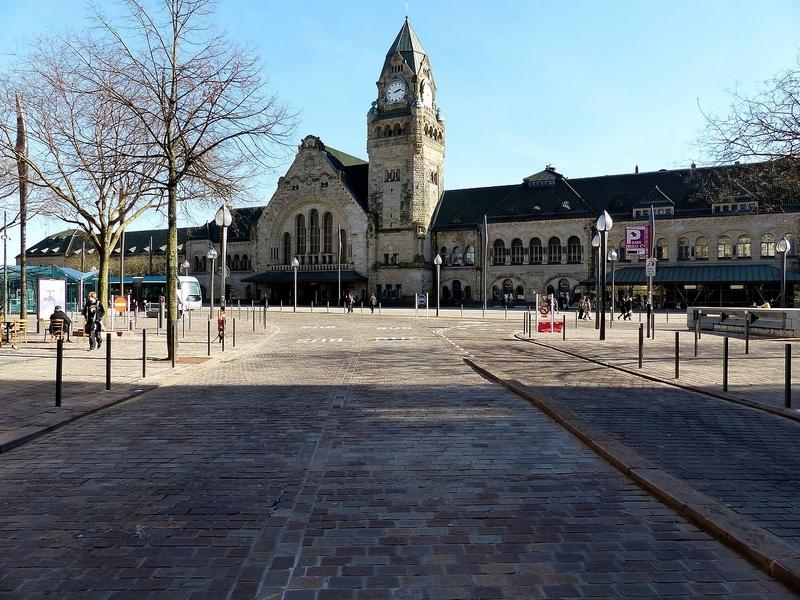 Metz / La Tour de l'Horloge de la gare impériale...