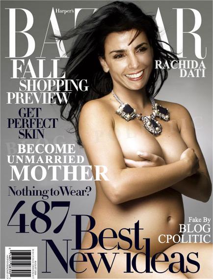 Rachida Dati nue enceinte
