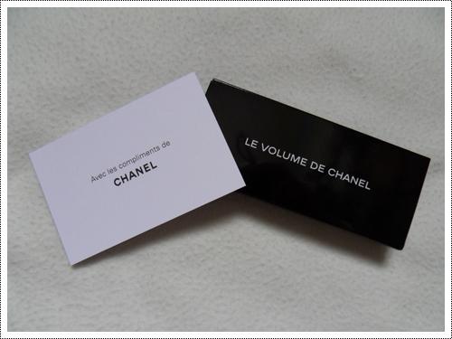 J'aime bien reçevoir des petits cadeaux...surtout de la part de Chanel