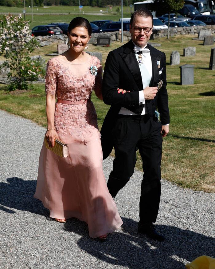 La famille royale de Suède à un mariage, le 2 juin