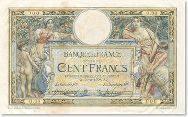 LES BILLETS 100 FRANCS LUC OLIVIER MERSON