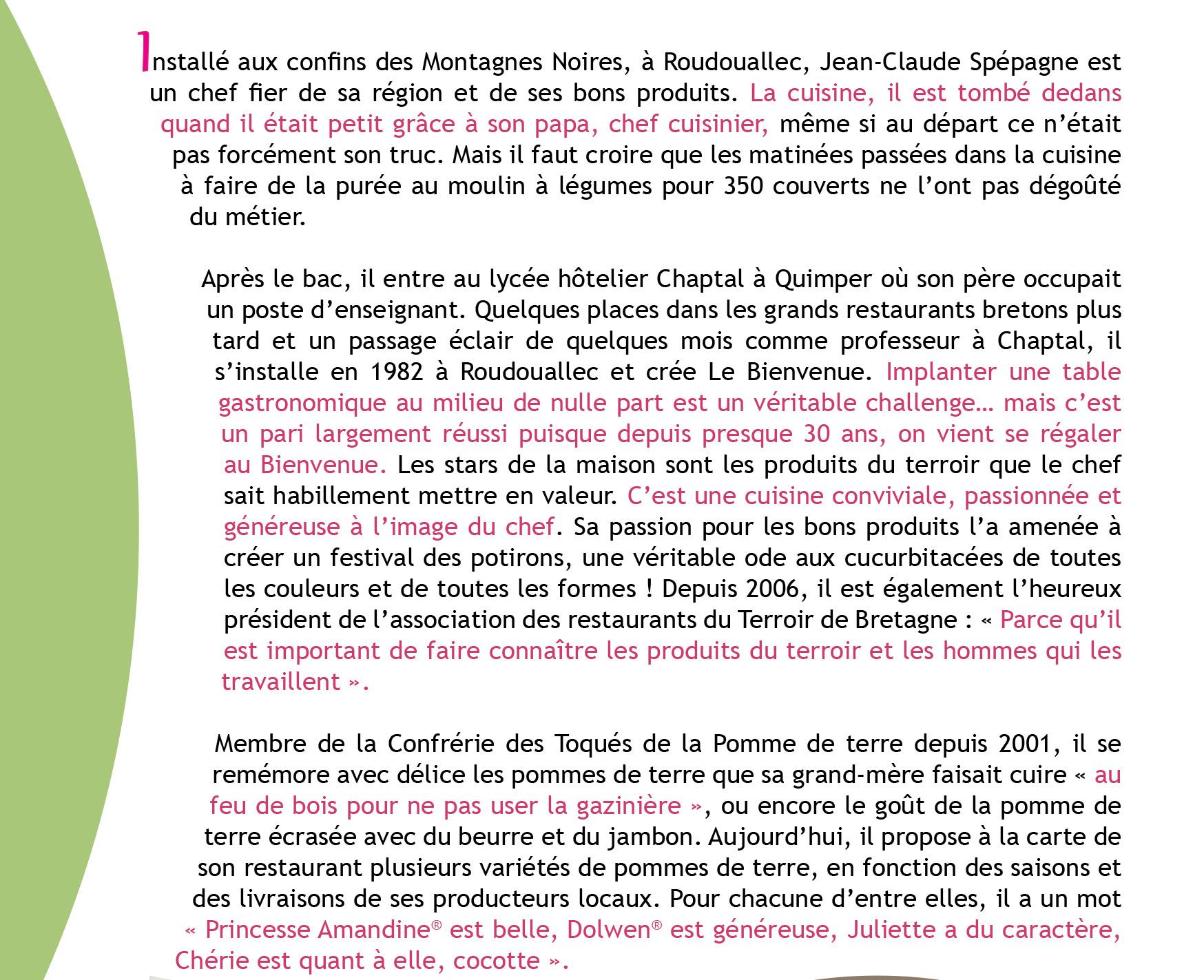 Portrait de Toqué : Jean-Claude SPEGAGNE