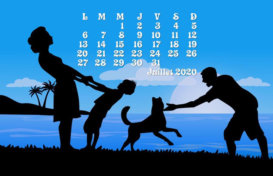 Fond d'écran calendrier