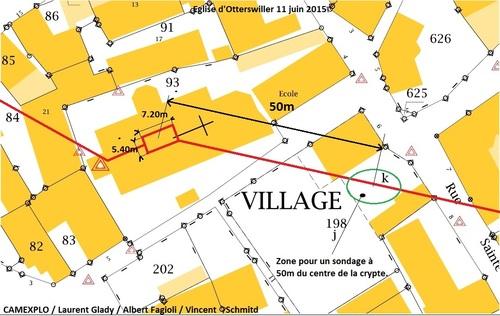 La crypte de l'église Saint-Michel d'Otterswiller et les souterrains. (CAMEXPLO/ Laurent GLADY/ Albert FAGIOLI/ Vincent SCHMITD