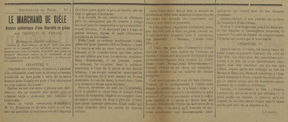 Le Marchand de Djèle (feuilleton par Tronçon du Férail dans Tatène 1er novembre 1912)