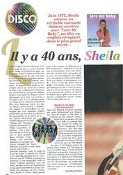 Actualité Sheila 2017 / MAJ du 1er juillet