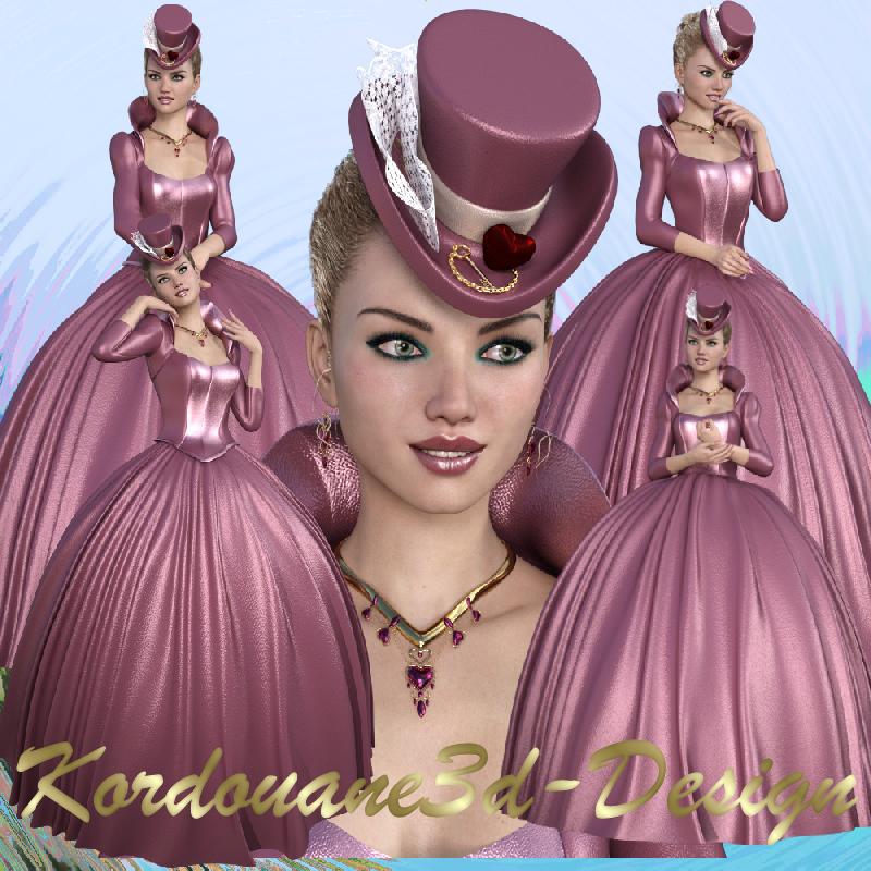 Love : Femme Saint-Valentin (tube)