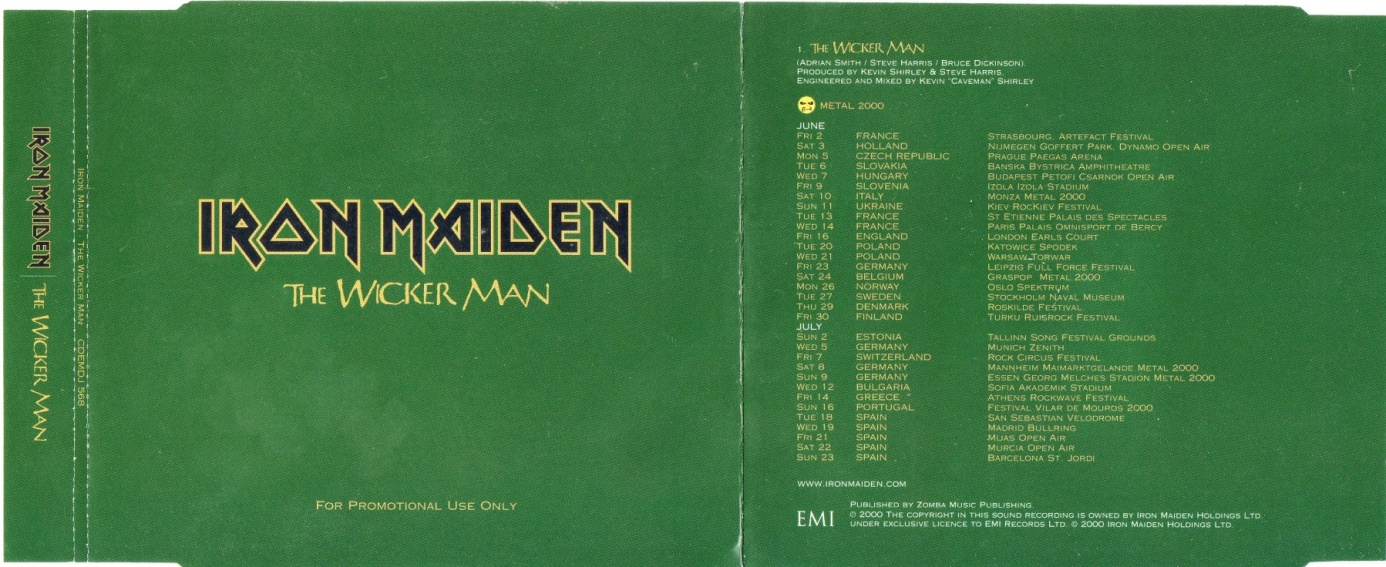 iron maiden the wicker man single download