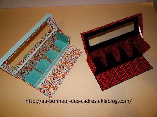Cartonnage : boite à thé de Régine