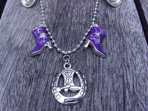 Parure de bijoux country violette