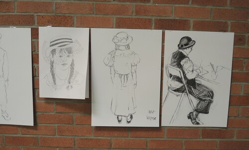 Centenaire de la bataille de la Tête de Sanglier- RICHEBOURG 04- Les copines peintres