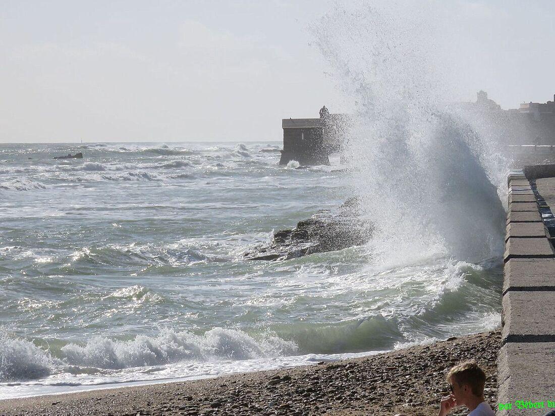 des vagues , fontaine et...