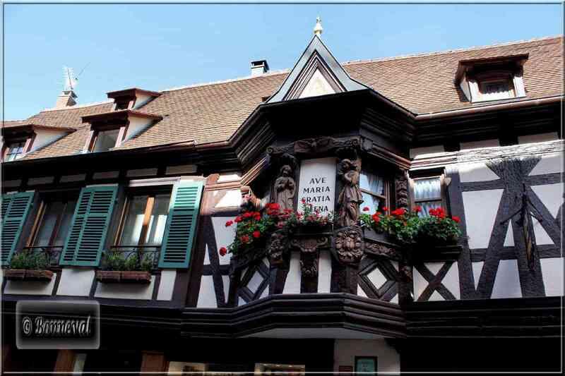 Alsace de Colmar à Ribeauvillé Ribeauvillé l'auberge des Ménétriers