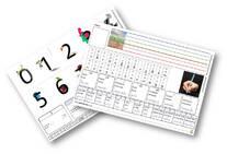 Fiche d'aide à l'écriture de la date (jours, mois, chiffres - avec lignage)