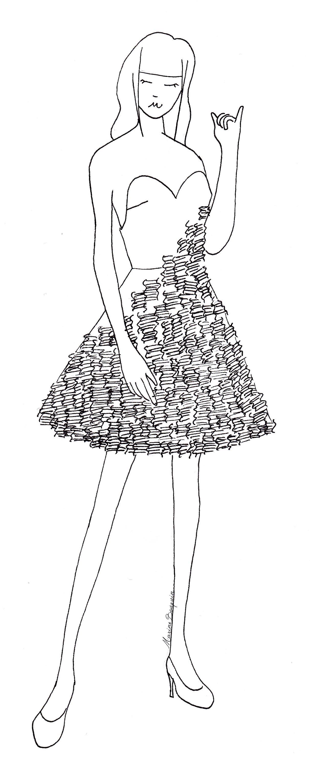 La Robe En Carton Le Chat Dans Les Nuages