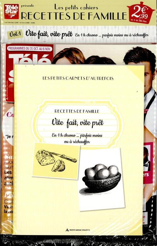 N° 1 Les petits carnets d'autrefois recettes de famille