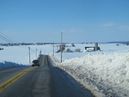 Paysages d'hiver en pays Amish....