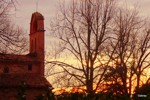 Coucher de soleil en Tolosan