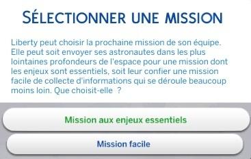 sélectionner une mission