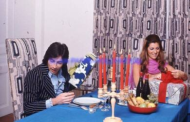 Novembre 1973, session Noël pour Stéphanie.