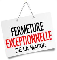 Fermeture exceptionnelle de la mairie jeudi 21 mars