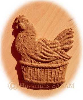 poule speculoos réalisée dans un moule en bois - Arts et sculpture: sculpteur à façon