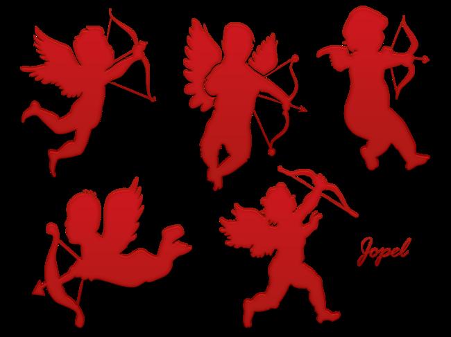 Cupidons et icone petit bonhomme
