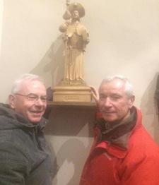 Saint-Jacques-de-Compostelle à Enghien - La nouvelle statue
