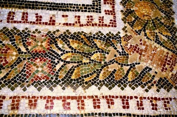détail d'une mosaïque provenant du site de Bulla Regia