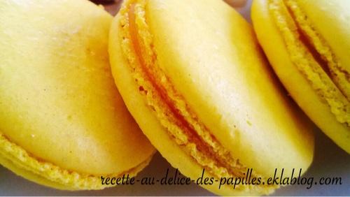 Recette macaron curl mangue fruit de la passion