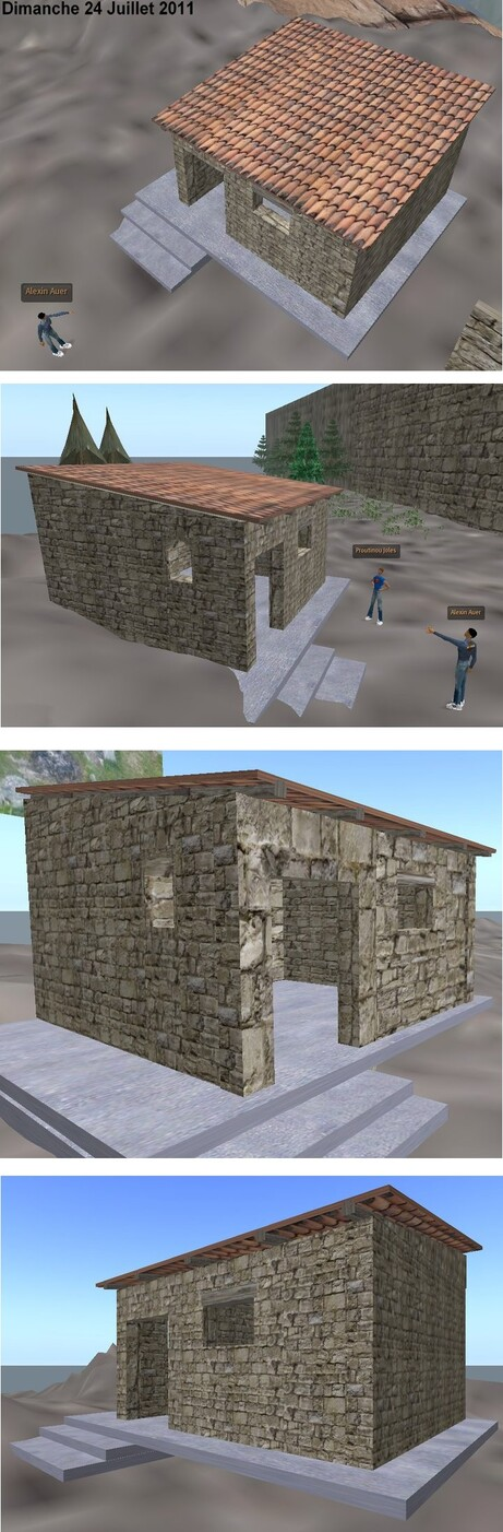 Construction d'une maison du Castrum