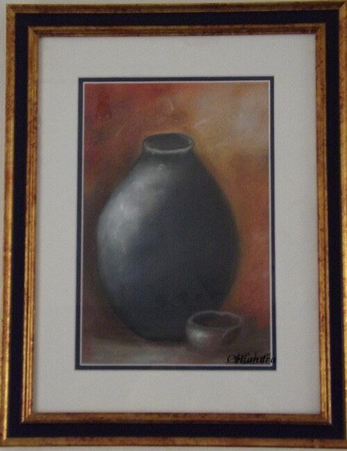 Peinture  Pot émaillé