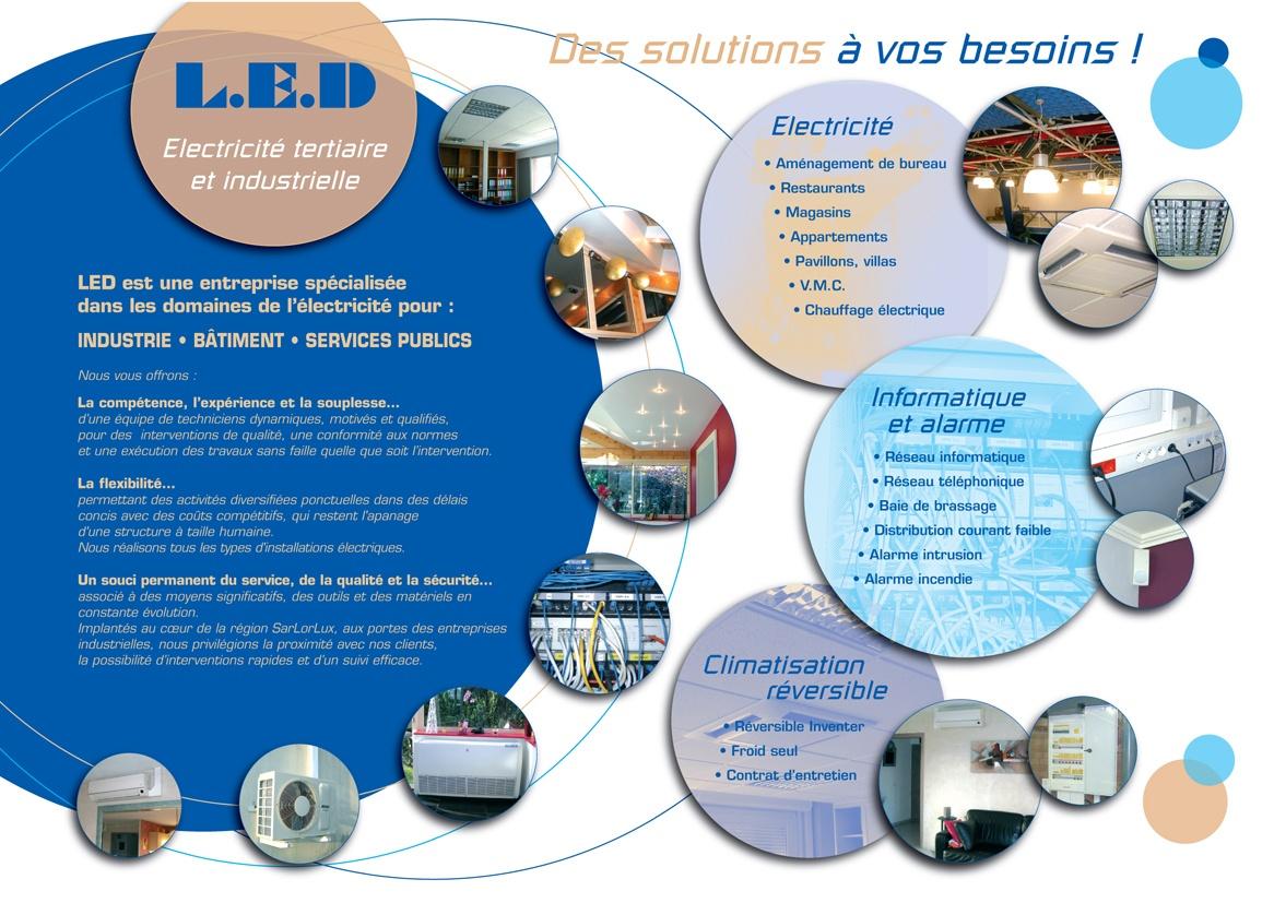 Souvent Plaquette pour une entreprise d'électricité industrielle - Adékwa CE77
