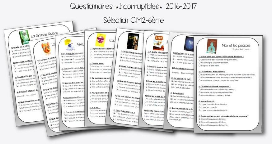 Incorruptibles 2016-2017 : questionnaires et corrigés
