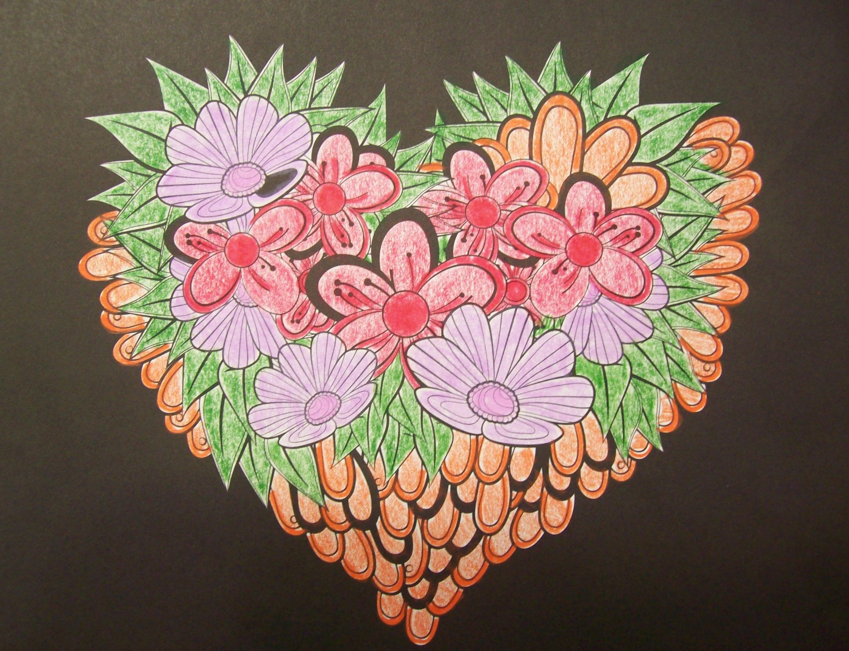 Coloriage Fleur Coucou.Coloriage Pour Adultes Simplement La Vie