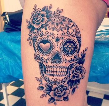 calavera tatouage