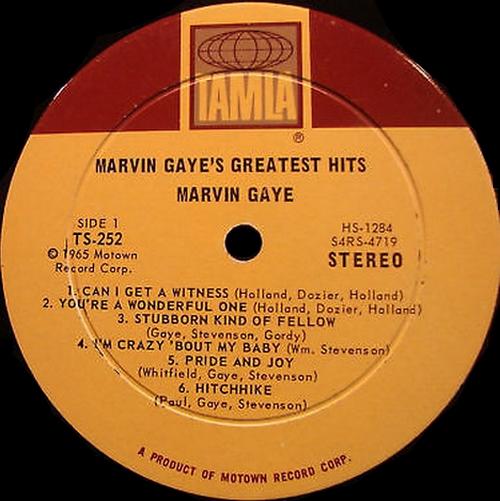 "Marvin Gaye : Album "" Marvin Gaye's Greatest Hits "" Tamla Records TM 252 [ US ]"