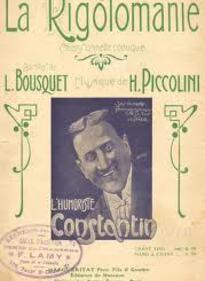 Blog de lafarandoledeschansons : La Farandole des Chansons, Une chanson marrante de 1921 avec la rigolomanie par CONSTANTIN le rieur, et c'est pour rire