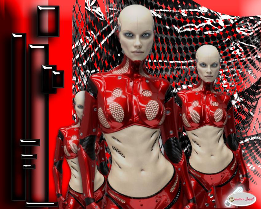 Femme robot chez Lamalle Magique par Jopel