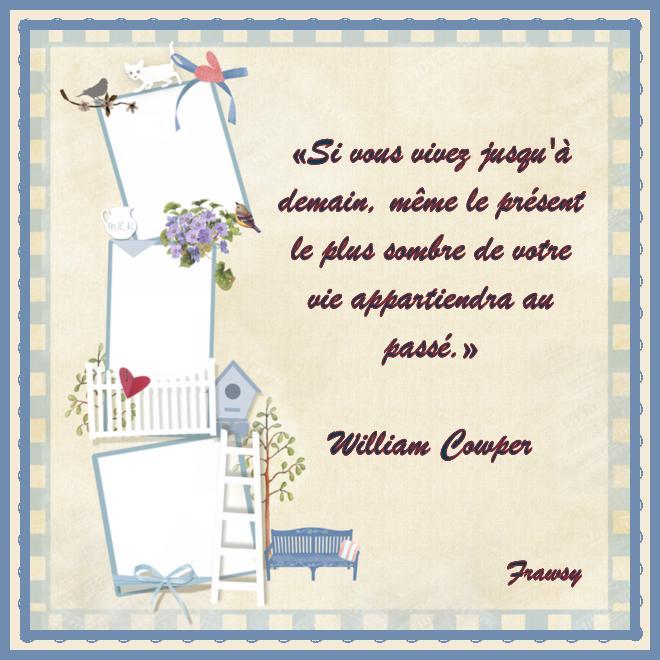Citation de William Cowper - La vie, plus forte que tout (avec texte)