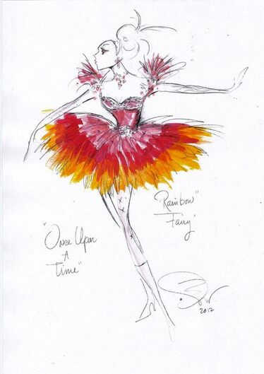 No, Way!! ~ Rainbow fairy sketch from: Once Upon a Time's costume designer Eduardo Castro.: