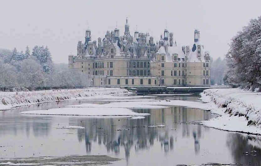 Château de Chambord sous la neige